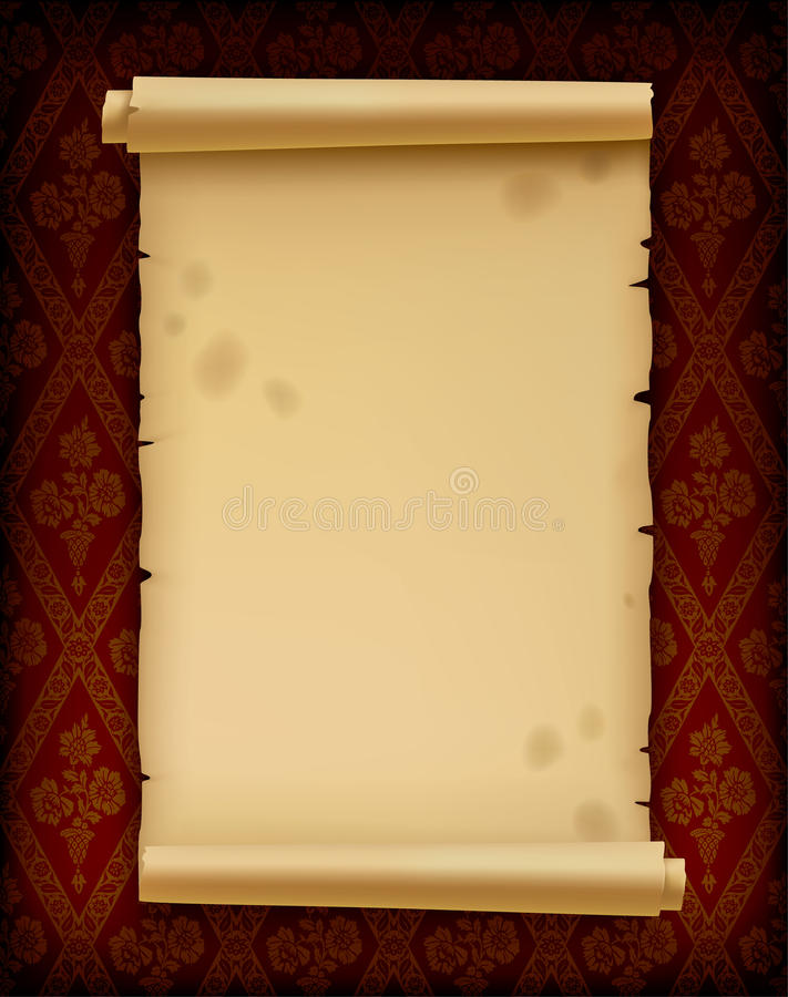 Old parchment. Isolated raster version of image of old parchment (contain the Clipping Path) There is in addition a format (EPS 8