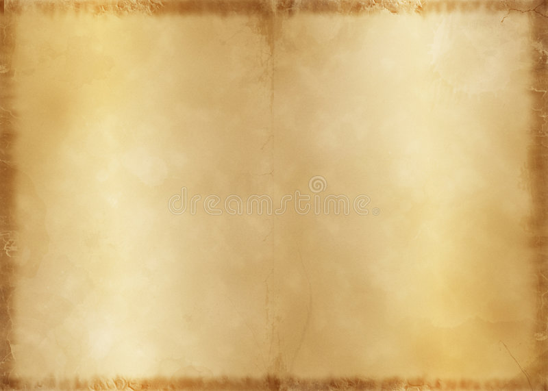 Old Parchment. This old parchment style background with very cool details like water stains and scratches stock photos