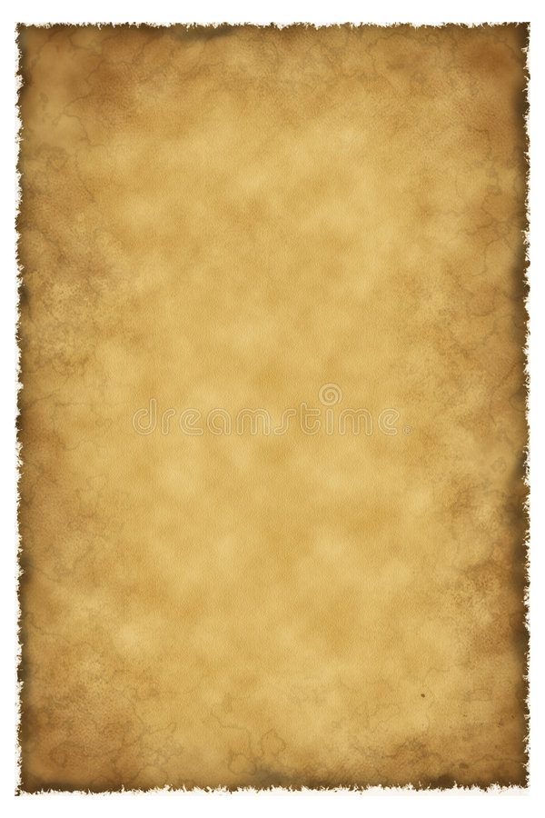 Old parchment lamb skin royalty free stock photo