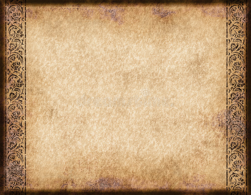 Old parchment or paper royalty free illustration