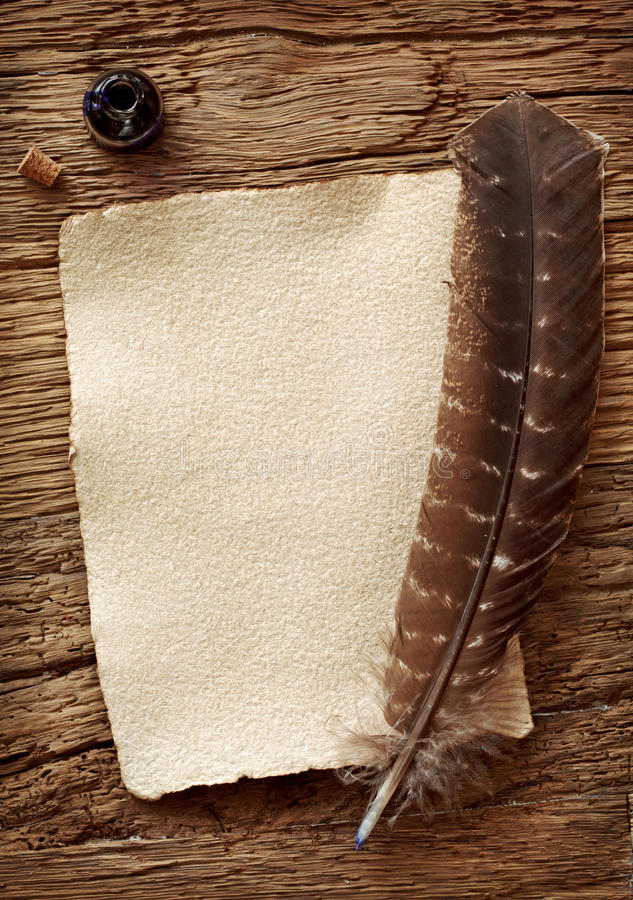 Download Old Parchment And Quill Pen Stock Photo - Image: 22340348