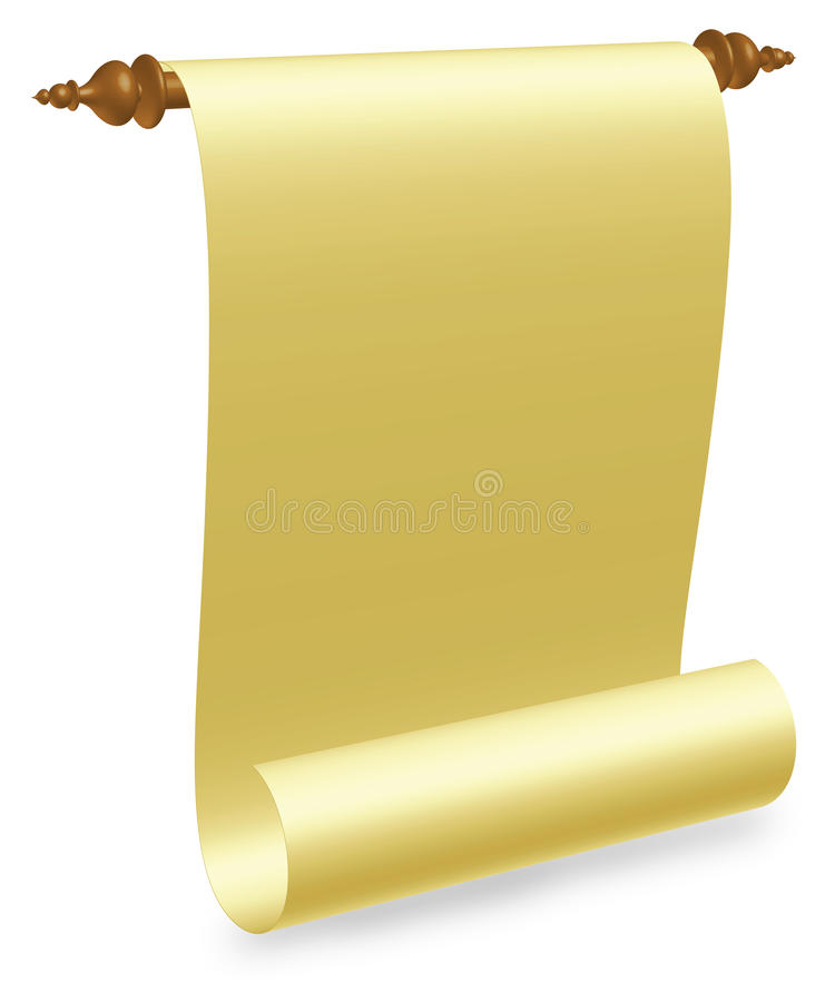 Old Parchment Scroll vector illustration