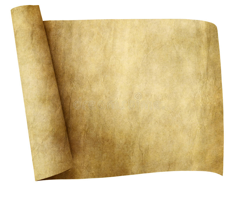 Old parchment scroll royalty free stock images