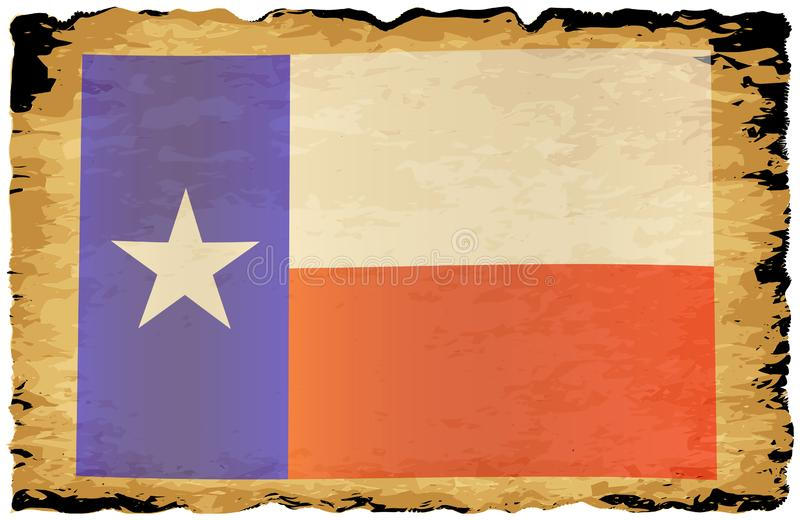 Old Parchment Texan Flag stock photo