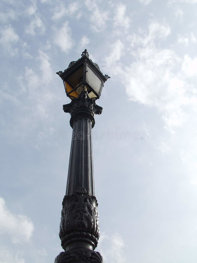 Download Old parisiant street lamp stock photo. Image of street, iron - 24218