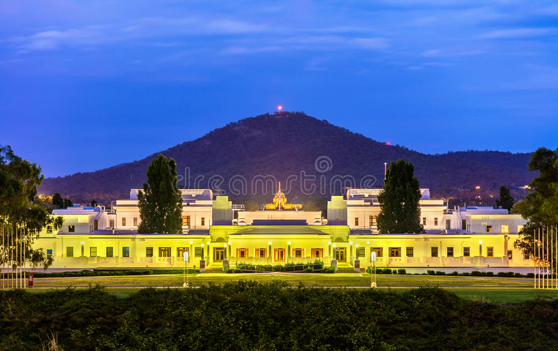 Old Parliament House, served from 1927 to 1988. Canberra, Australia royalty free stock photos