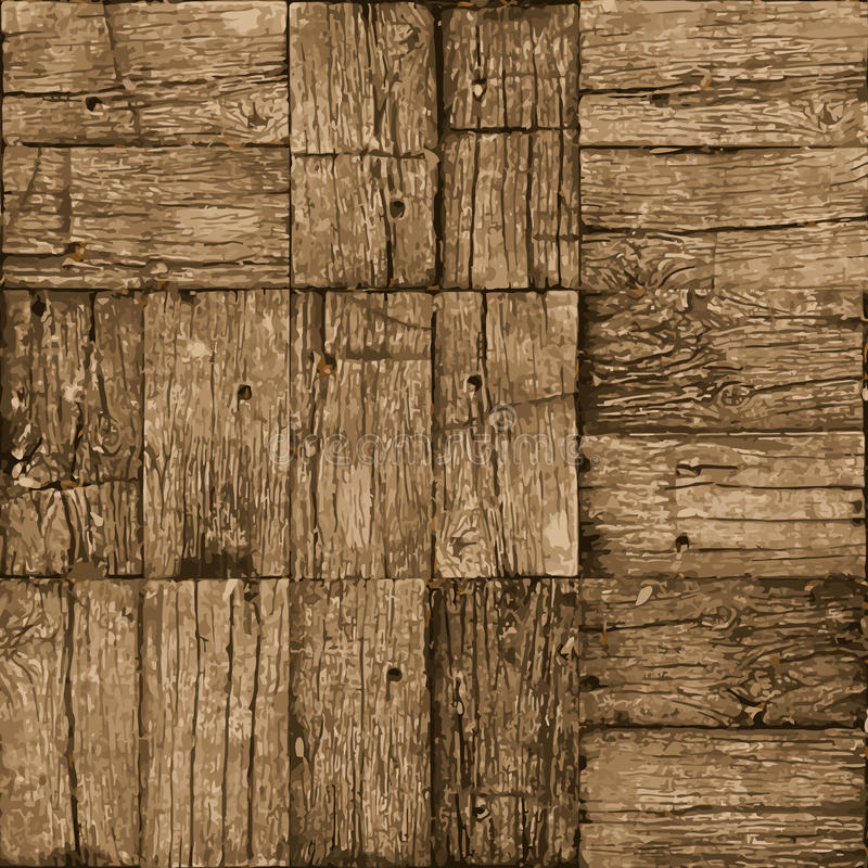 Old parquet floor background - vector realistic grunge element f stock photography