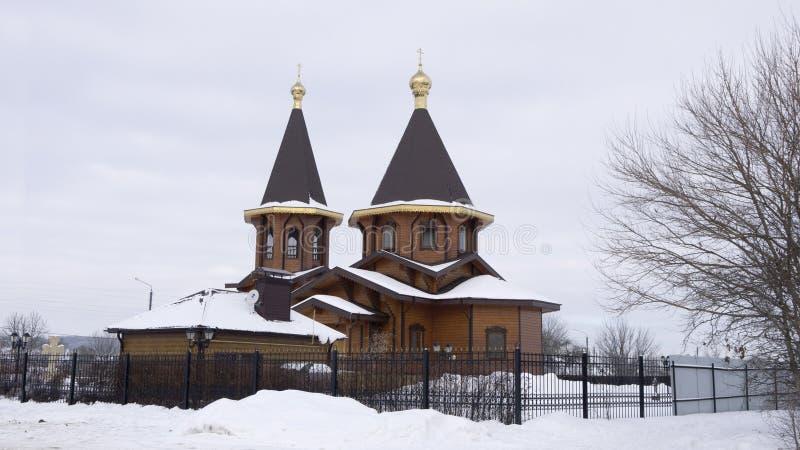 Russian Federation, Belgorod Region, Belgorod, Korochanskaya St., Serafim Sarovsky Temple. In the old part of the city Belgorod stands the chapel of Seraphim of stock photography