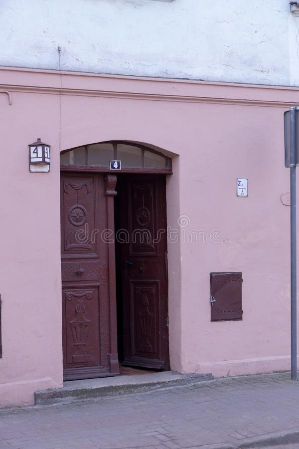 Old parted doors. Old parted doors open in royalty free stock photography
