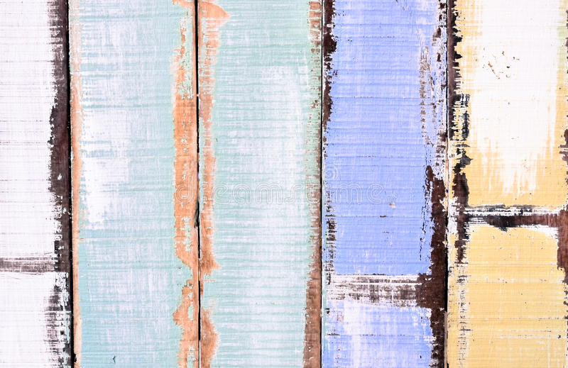 Old pastel color wood panels. Used for texture and background stock photography