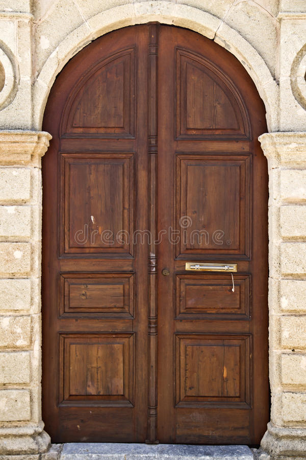 Old pattern door royalty free stock image