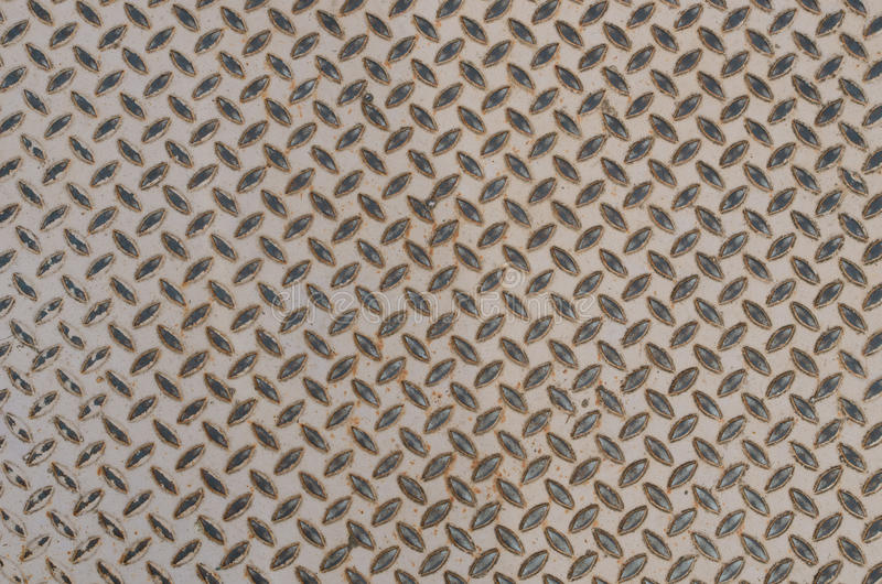 Old pattern style of steel floor royalty free stock photo