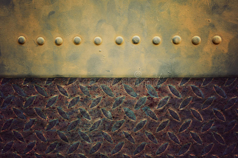 Old pattern style of steel floor background royalty free stock photos