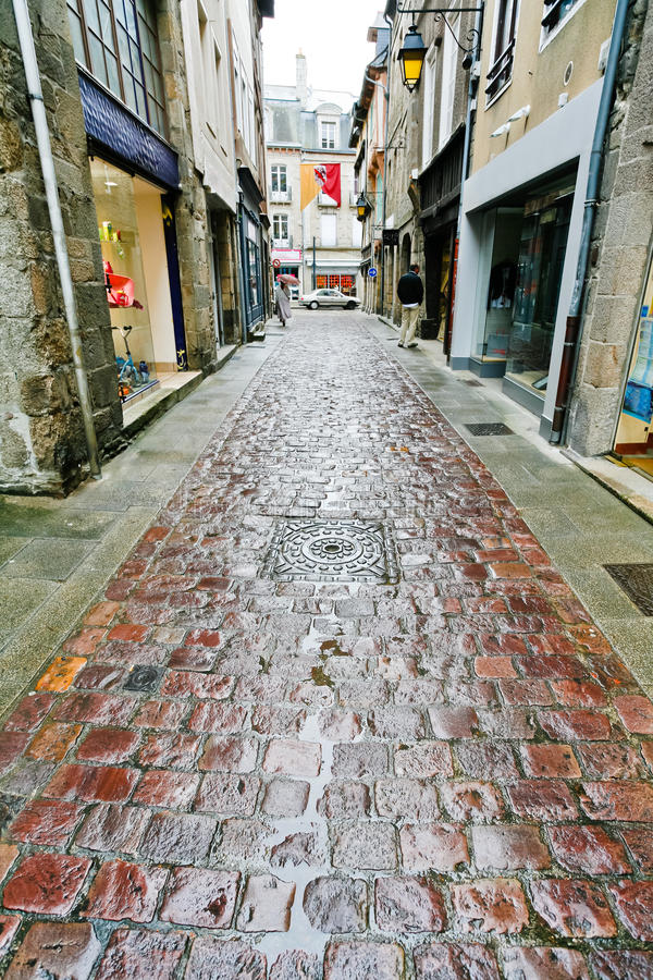 Old paved road in Dinan