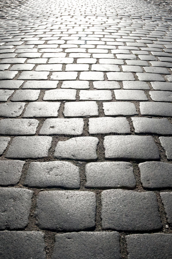 Old Pavement. Pavement in the old german town Gartz at the river Oder stock photography