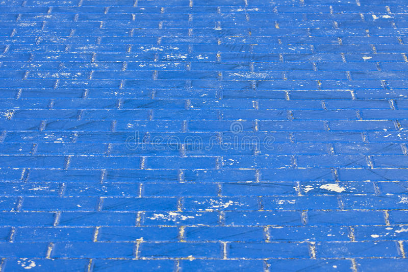The old paving in blue royalty free stock image