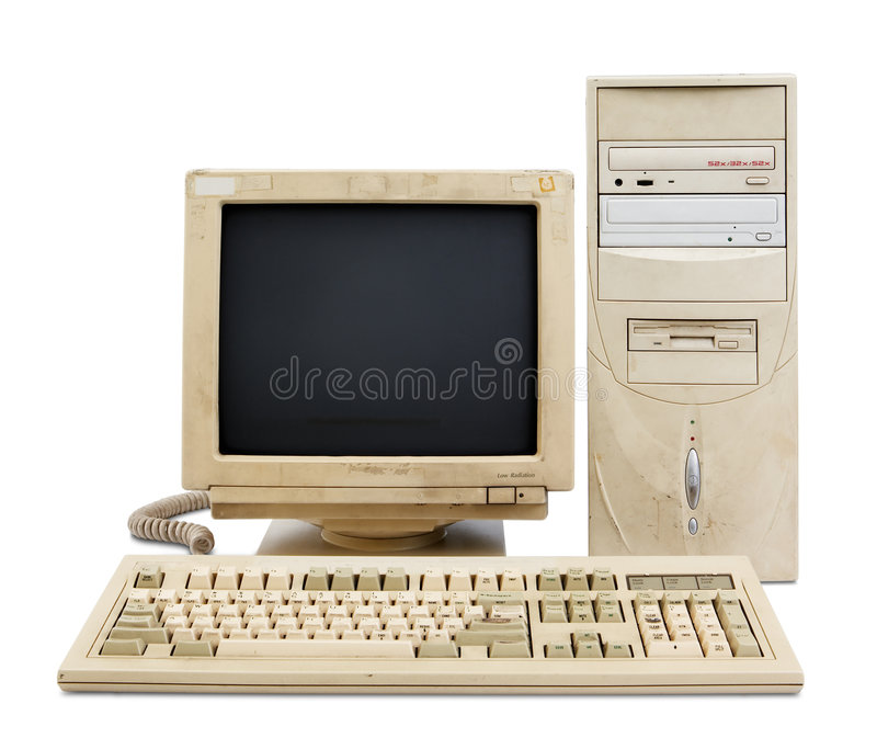Download Old PC set stock image. Image of technology, monitor, computer - 8491989