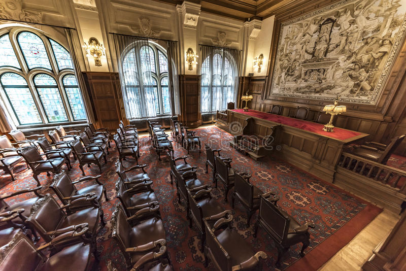 Old PCA Courtroom royalty free stock photography