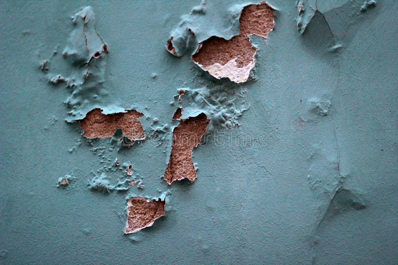 Old peeling blue wall royalty free stock photo