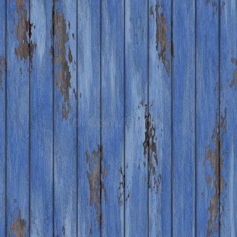 Old Peeling Cracked Wood Wall Seamless Stock Photography