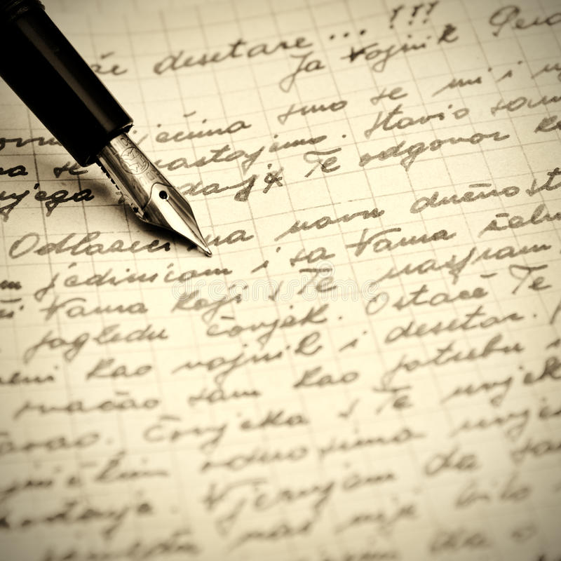 Download Old Pen And Letter Stock Image - Image: 21254281