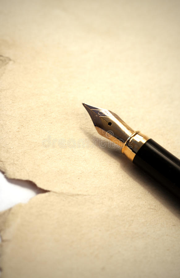 Old pen and paper royalty free stock photos