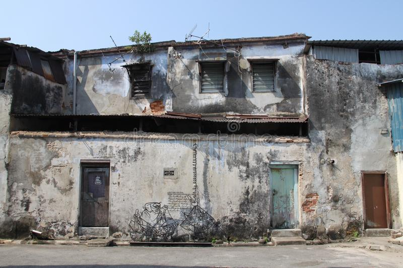 Old Penang Houses stock photography