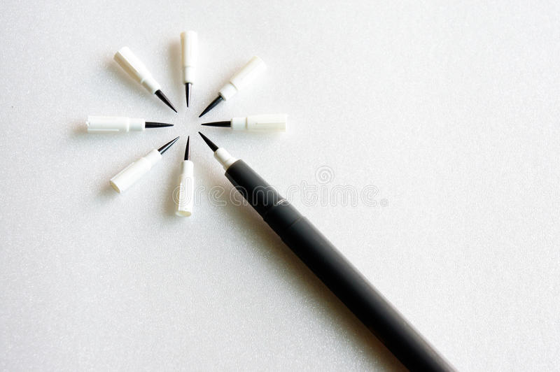 Old pencil royalty free stock photo