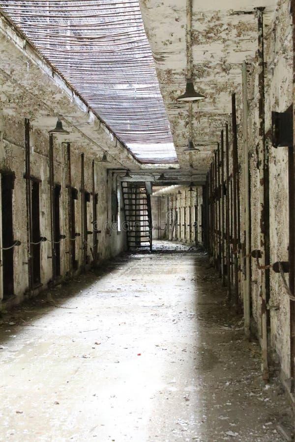 Old Penitentiary in Philadelphia,Pennsylvania. Eastern State Penitentiary Cell block in Philadelphia, Pennsylvania stock image