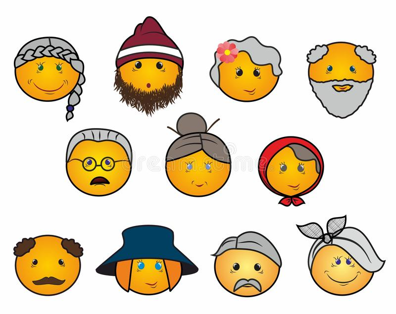Old people icons royalty free stock photography