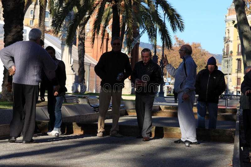 Download Old People Playing Petanque In Barcelona Editorial Image - Image of balls, editorial: 24640250
