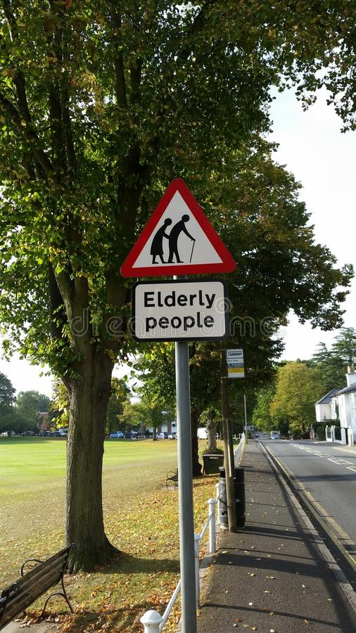 Old people street sign royalty free stock images