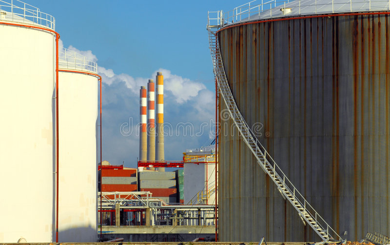 Download Old petrochemical refinery stock photo. Image of clear - 6094686