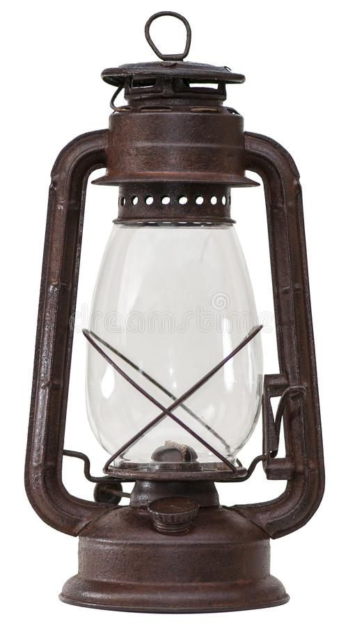 Free Old Petrol Lamp With White Background Royalty Free Stock Image - 107140296