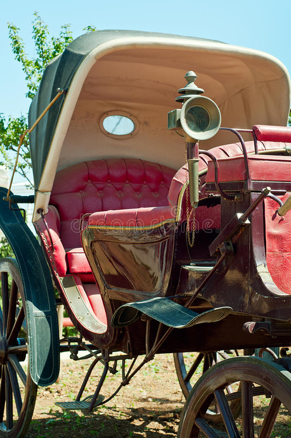 Vintage Car. Photo of a very old phaeton, vintage car stock photo