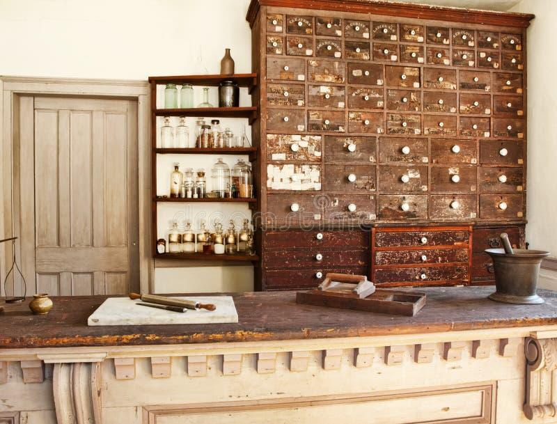 Old pharmacy royalty free stock image