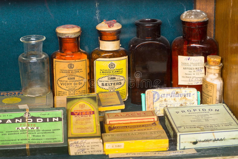 Old pharmacy museum royalty free stock photos