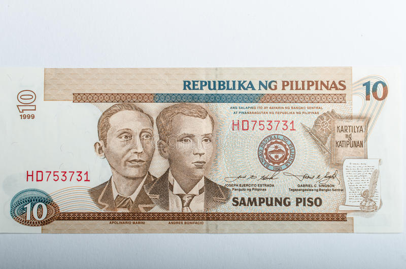 Old Philippines banknotes money. Background, all real money royalty free stock photos