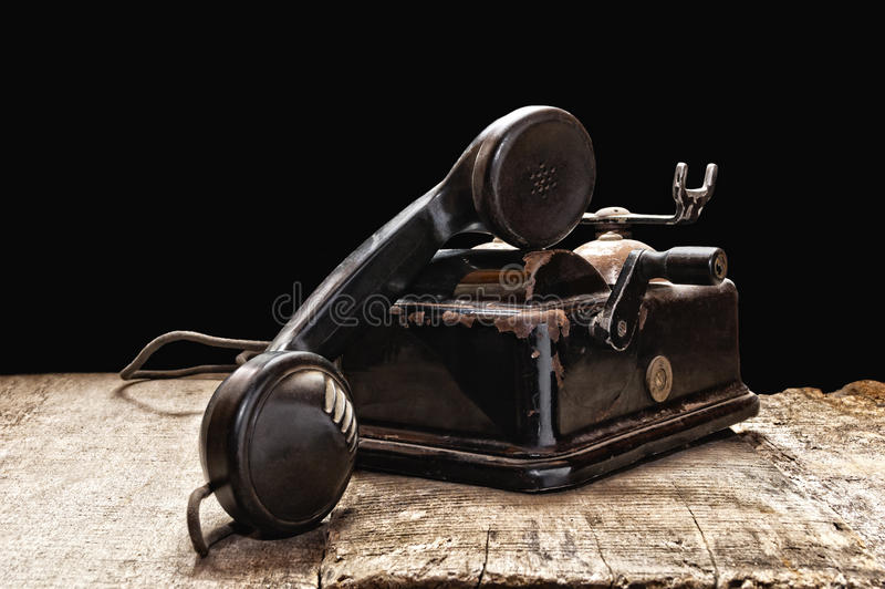 Old phone stock image