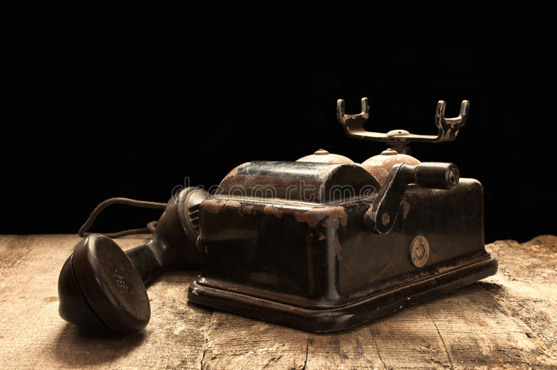 Download Old Phone In Dusty And Rusty Condition. Stock Image - Image: 33584657