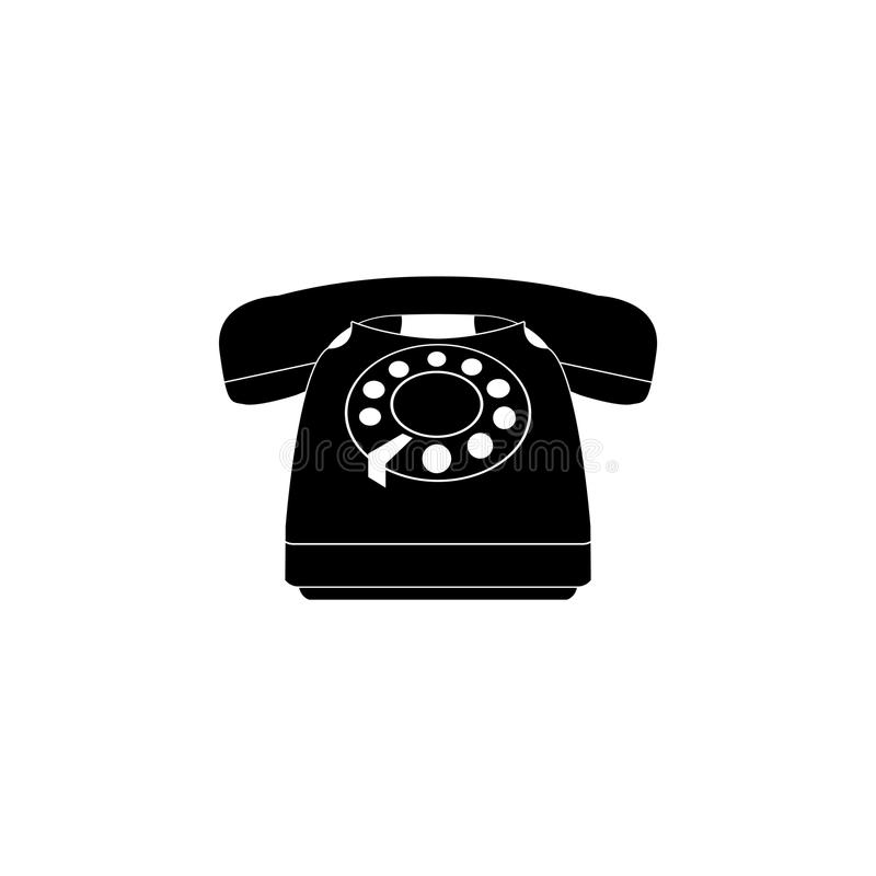 Old phone icon. vector. Illustration stock illustration