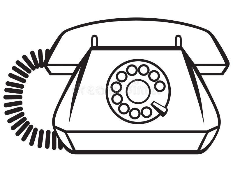 Old Phone stock illustration