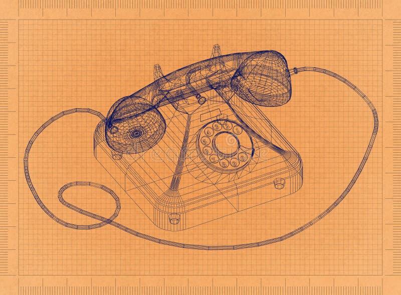 Old phone retro blueprint stock illustration illustration of download old phone retro blueprint stock illustration illustration of classic line 117118230 malvernweather Choice Image