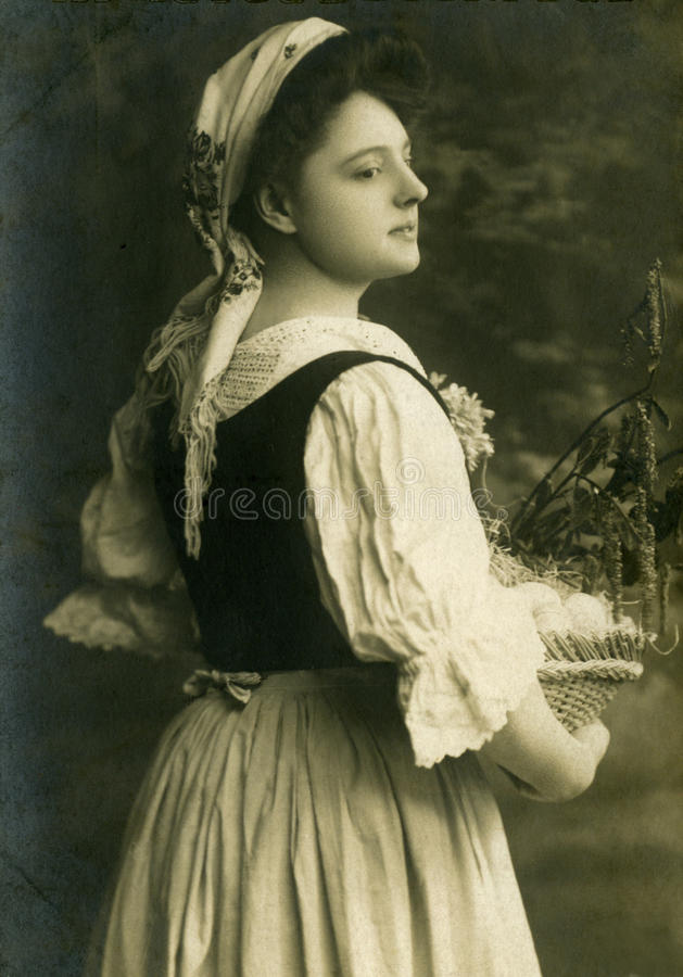 Download Old photo. stock photo. Image of fashioned, girls, album - 18341224