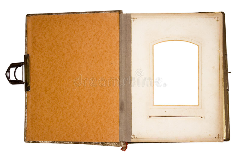Old Photo Album for 1 Picture (Path Included) stock images