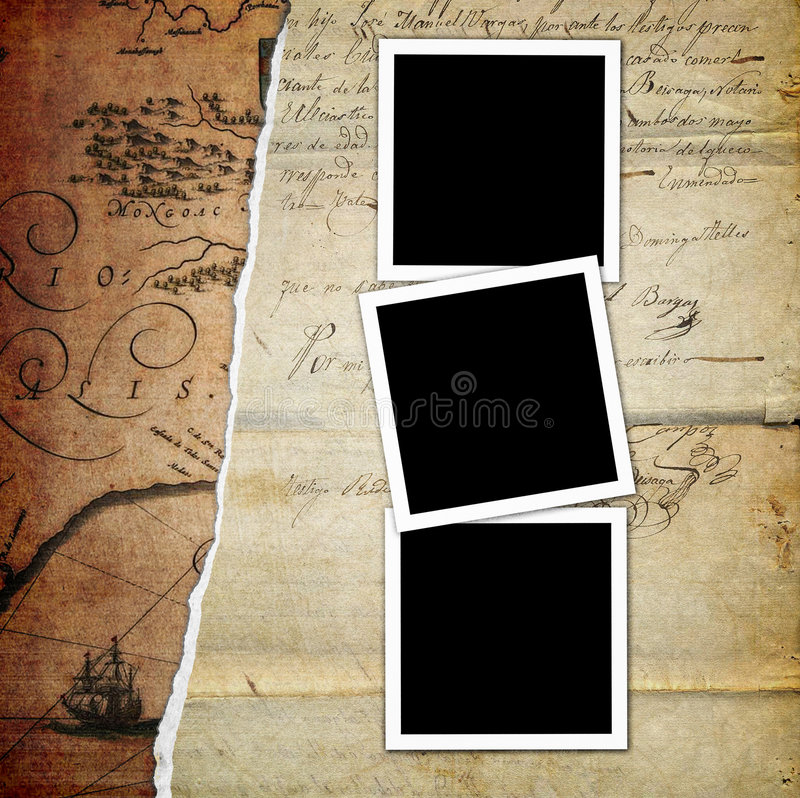 Old photo album page vector illustration