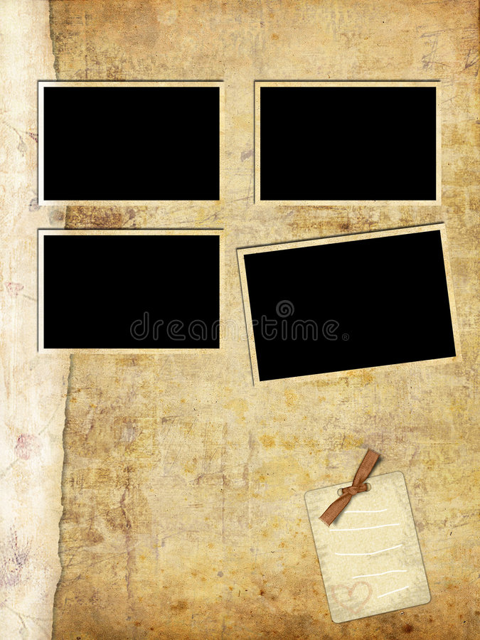 Old Photo Album Page Royalty Free Stock Image
