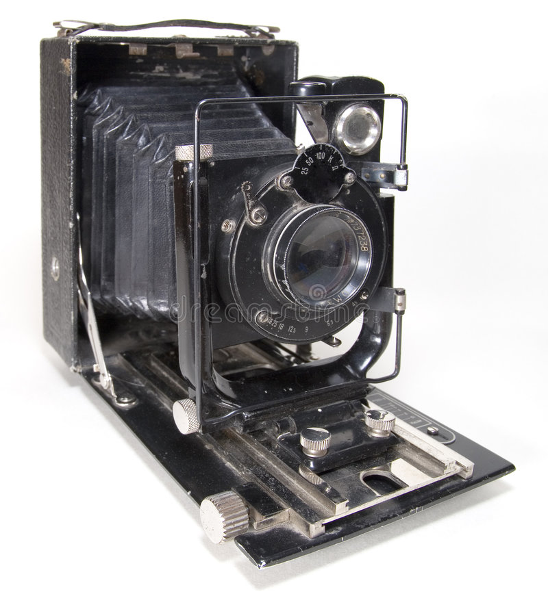 Old photo camera stock photo