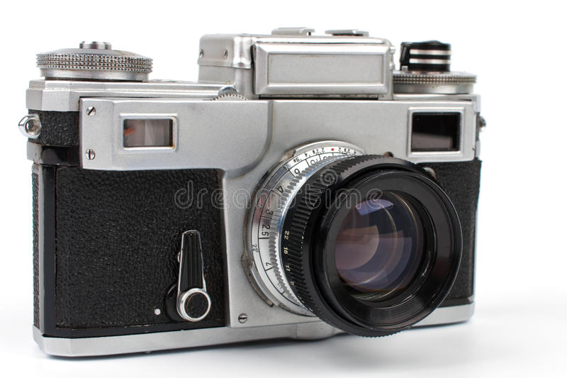 Download Old photo camera stock image. Image of retro, silver - 27814533
