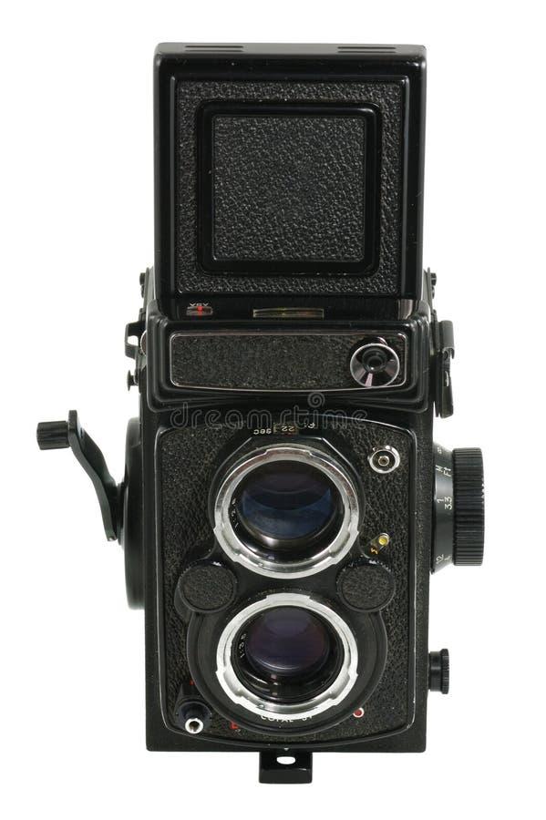 Old Photo Camera. Isolated on White stock photo